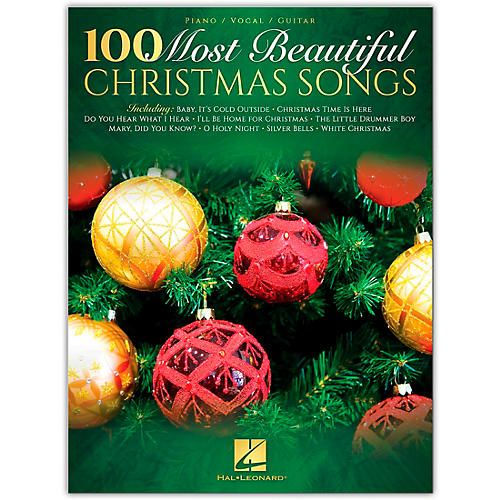 100 Most Beautiful Christmas Songs Piano/Vocal/Guitar Songbook