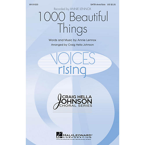 Hal Leonard 1000 Beautiful Things SATB DIVISI AND SOLO by Annie Lennox arranged by Craig Hella Johnson