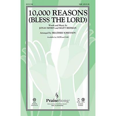 PraiseSong 10,000 Reasons (Bless the Lord) SAB by Matt Redman arranged by Heather Sorenson