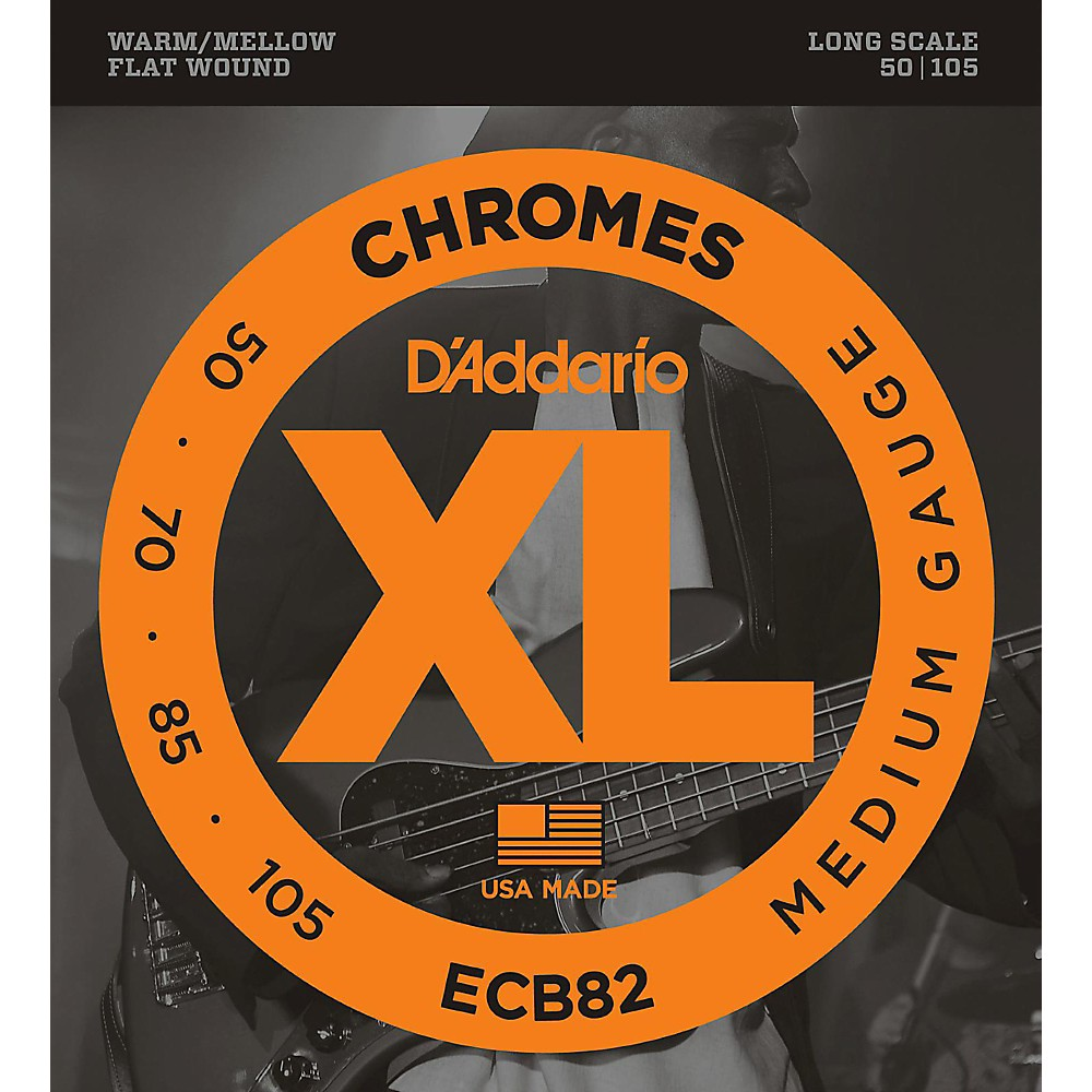 D'addario Ecb82 Chromes Flatwound Medium Bass Strings