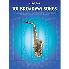 Hal Leonard 101 Broadway Songs for Alto Sax Instrumental Folio Series Book