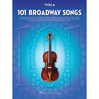 Hal Leonard 101 Broadway Songs for Viola Instrumental Folio Series Softcover