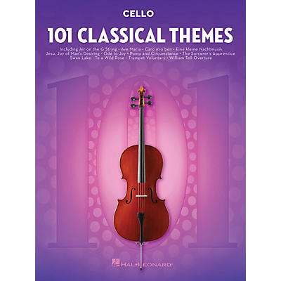 Hal Leonard 101 Classical Themes for Cello Instrumental Folio Series Softcover