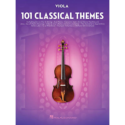 Hal Leonard 101 Classical Themes for Viola Instrumental Folio Series Softcover