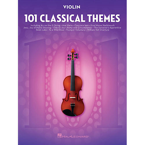 Hal Leonard 101 Classical Themes for Violin Instrumental Folio Series Softcover
