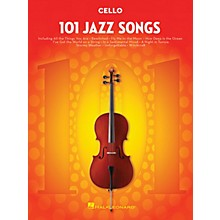 Hal Leonard 101 Jazz Songs for Cello Instrumental Folio Series Softcover