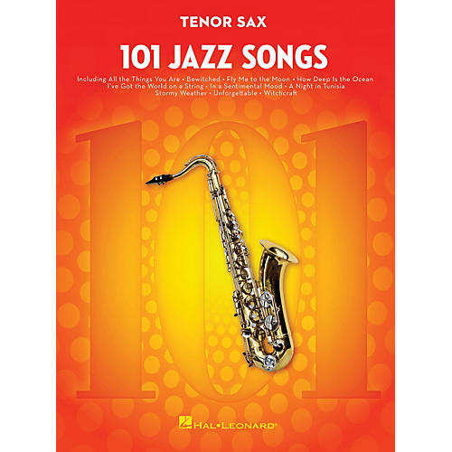 Hal Leonard 101 Jazz Songs for Tenor Sax Instrumental Folio Series Book