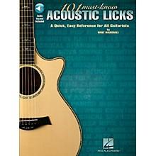 Hal Leonard 101 Must-Know Acoustic Licks Book/Audio Online