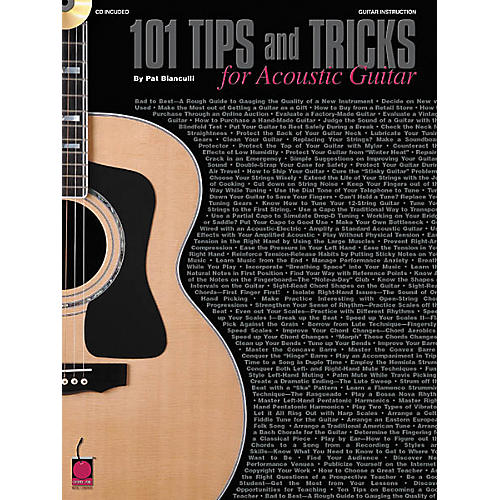 Cherry Lane 101 Tips and Tricks for Acoustic Guitar Book