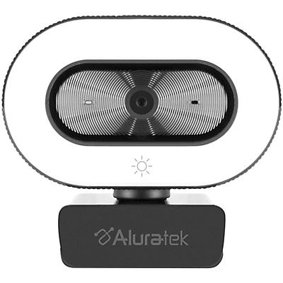 Aluratek 1080P USB Webcam w/Adjustable Lighting, Autofocus & Dual Mics