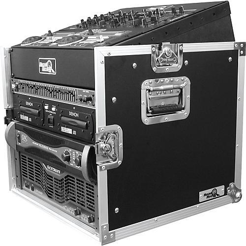 Road Runner 10U Slant Mixer Rack, 8U Vertical Rack System