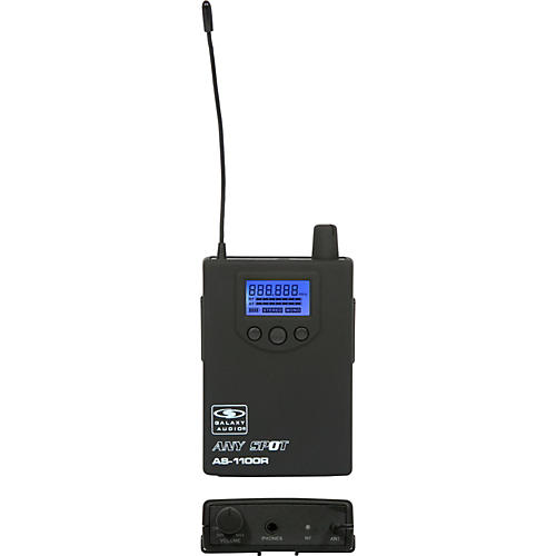 Galaxy Audio 1100 SERIES Wireless In-Ear Monitor Receiver Frequency with EB10 Earbuds