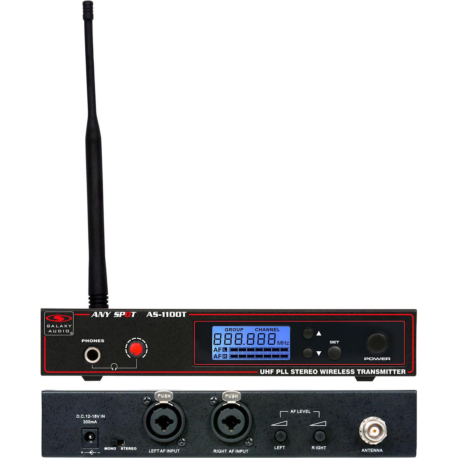 Galaxy Audio 1100 SERIES Wireless In Ear Monitor Transmitter Frequency