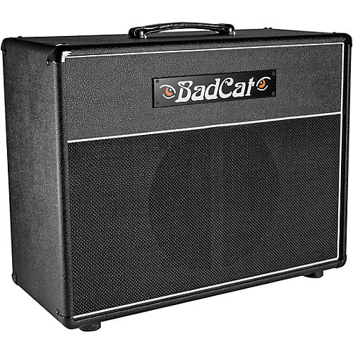 open box bad cat 112 extension 65w 1x12 guitar speaker cabinet black and silver musician 39 s friend. Black Bedroom Furniture Sets. Home Design Ideas