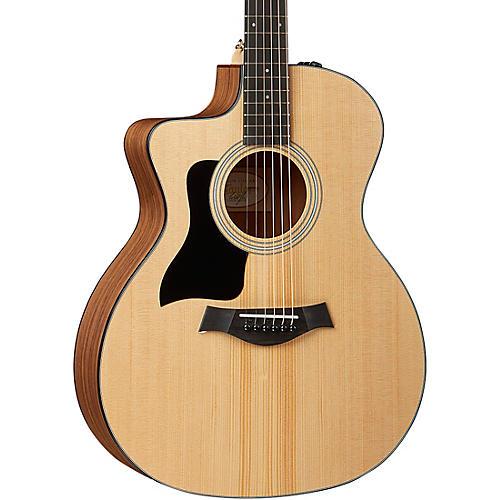 taylor 114ce lh left handed grand auditorium acoustic electric guitar natural musician 39 s friend. Black Bedroom Furniture Sets. Home Design Ideas