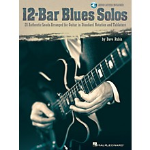 Hal Leonard 12-Bar Blues Solos Guitar Collection Series Softcover with CD Written by Dave Rubin