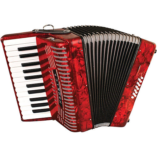 Hohner 12 Bass Entry Level Piano Accordion Red Musicians Friend