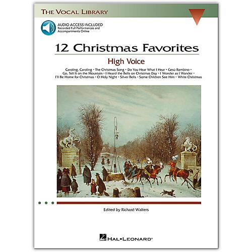 Hal Leonard 12 Christmas Favorites for High Voice Book/Online Audio
