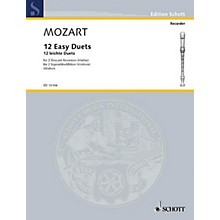 Schott 12 Easy Duets Schott Series by Wolfgang Amadeus Mozart