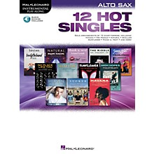 Hal Leonard 12 Hot Singles for Alto Sax Intrumental Play-Along Book/Audio Online
