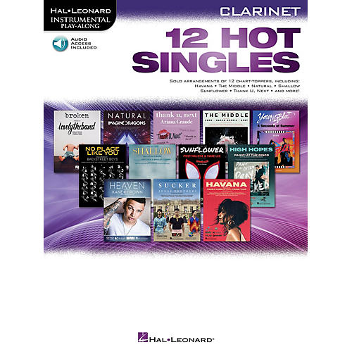 Hal Leonard 12 Hot Singles for Clarinet Instrumental Play-Along Book/Audio Online