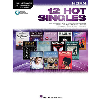 Hal Leonard 12 Hot Singles for Horn Instrumental Play-Along Book/Audio Online