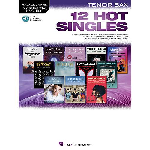 Hal Leonard 12 Hot Singles for Tenor Sax Instrumental Play-Along Book/Audio Online