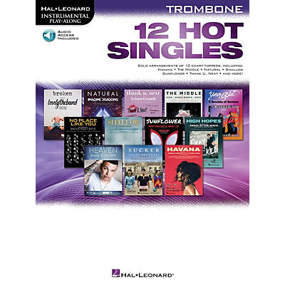 Hal Leonard 12 Hot Singles for Trombone Instrumental Play-Along Book/Audio Online
