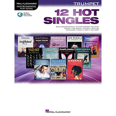 Hal Leonard 12 Hot Singles for Trumpet Instrumental Play-Along Book/Audio Online