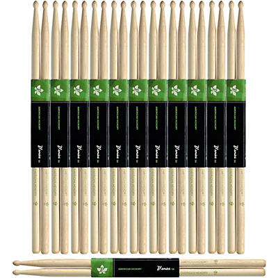 Stagg 12-Pair American Hickory Drum Sticks Wood Tip