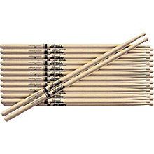 12-Pair American Hickory Drumsticks Nylon 7A
