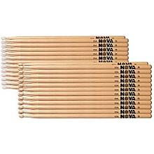 Nova 12-Pair Hickory Drumsticks