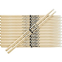 12-Pair Japanese White Oak Drumsticks Nylon 5A