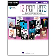 Hal Leonard 12 Pop Hits for Alto Sax Book/Audio Online