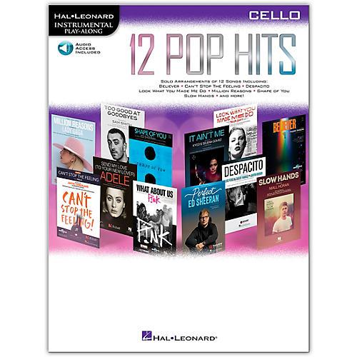 Hal Leonard 12 Pop Hits for Cello Book/Audio Online