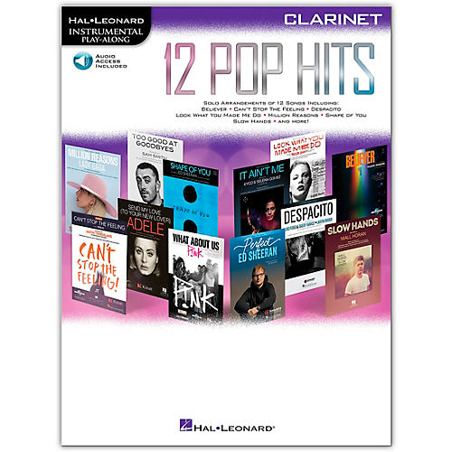 Hal Leonard 12 Pop Hits for Clarinet Book/Audio Online