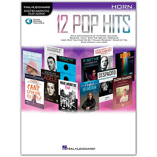 Hal Leonard 12 Pop Hits for Horn Book/Audio Online