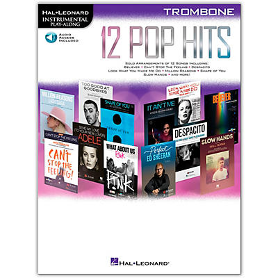 Hal Leonard 12 Pop Hits for Trombone Book/Audio Online