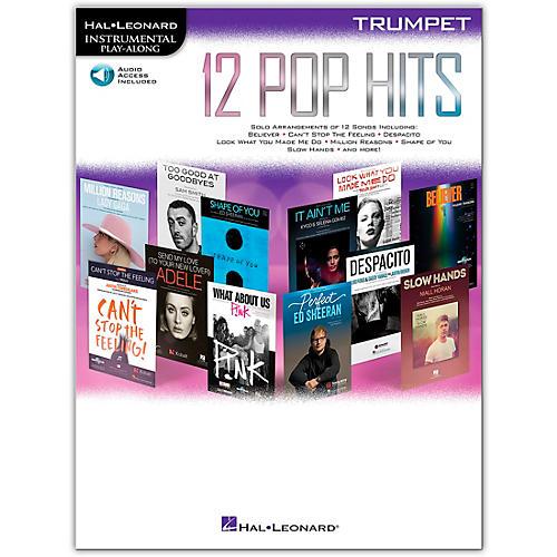Hal Leonard 12 Pop Hits for Trumpet Book/Audio Online