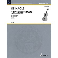 Schott 12 Progressive Duets, Op. 2 (Two Cellos Performance Score) String Series Softcover by Joseph Reinagle