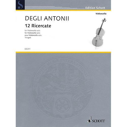 Schott 12 Ricercate (Solo Cello) String Series