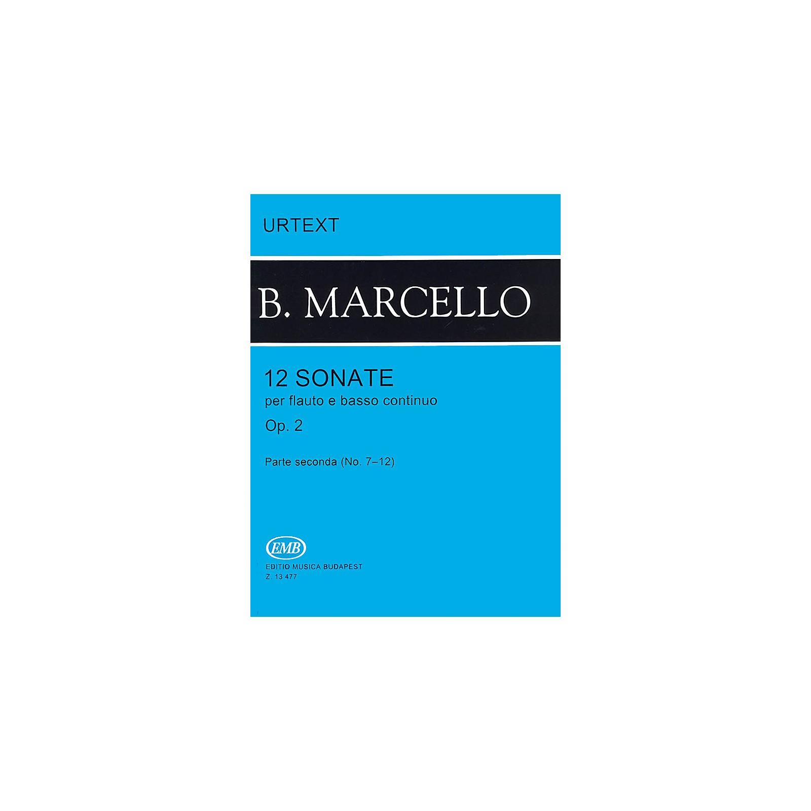 Editio Musica Budapest 12 Sonatas for Flute and Basso Continuo, Op. 2 - Volume 2 EMB Series by Benedetto Marcello