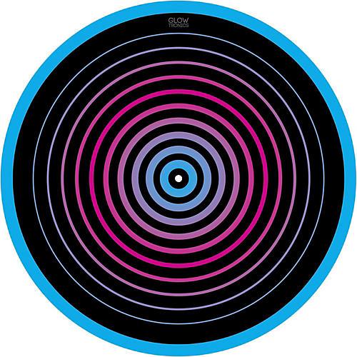 Glowtronics 12 in. UV-activated Circles Glow DJ Slipmat