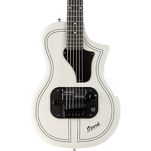Supro 1261AW Supro Ozark Solid Body Electric Guitar Antique White