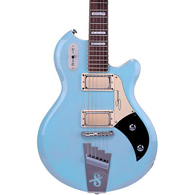 Supro 1296 Supro Silverwood Solid Body Electric Guitar