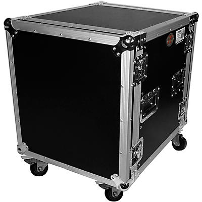 "ProX 12U Space Amp Rack Mount ATA Flight Case 19"" Depth w Casters"