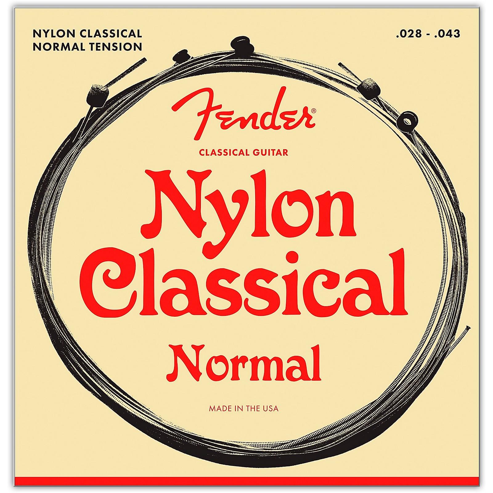 Fender 130 Clear/Silver Classical Nylon Guitar Strings - Ball End