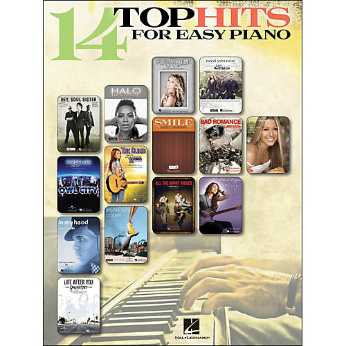 Hal Leonard 14 Top Hits for Easy Piano 2010 Edition