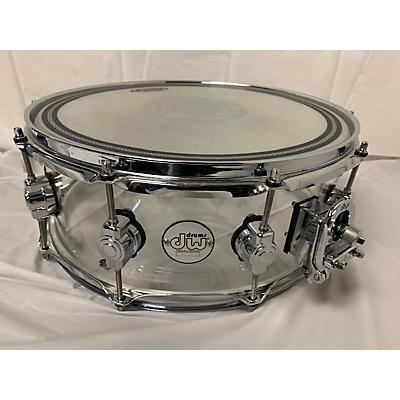 DW 14X5.5 Design Series Acrylic Snare Drum