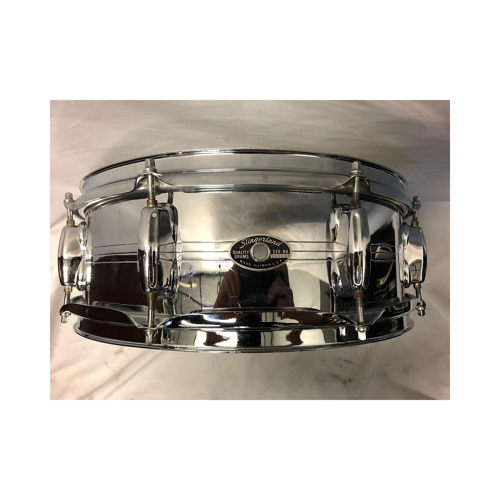 Slingerland 14X5.5 Sound King Chrome Over Brass Drum